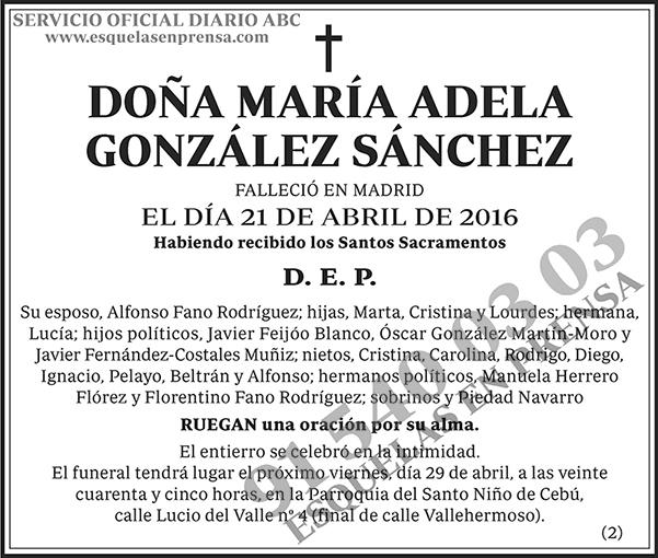 María Adela González Sánchez